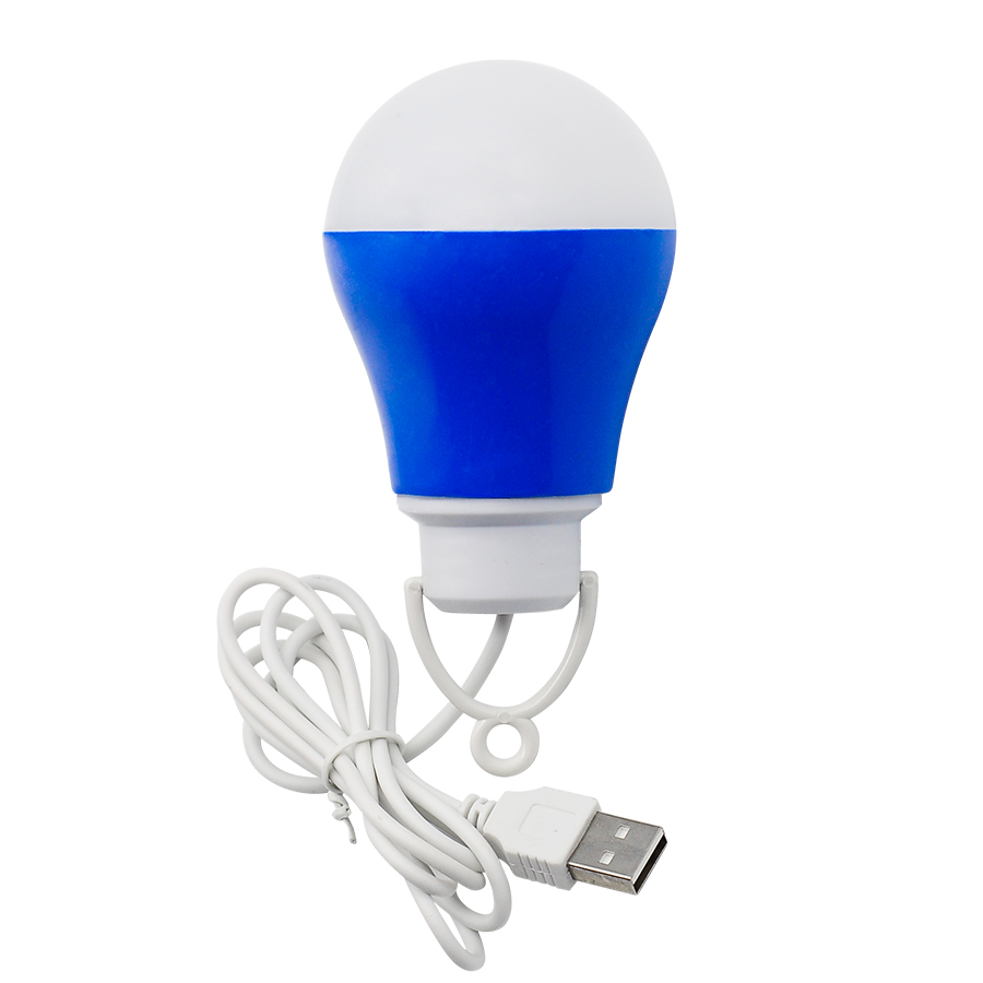 Portable USB Bulb Colorful PVC Environmental Bulb Light 5V 5W LED Lamps For Hiking Camping Travel Outdoor Lighting Night Light