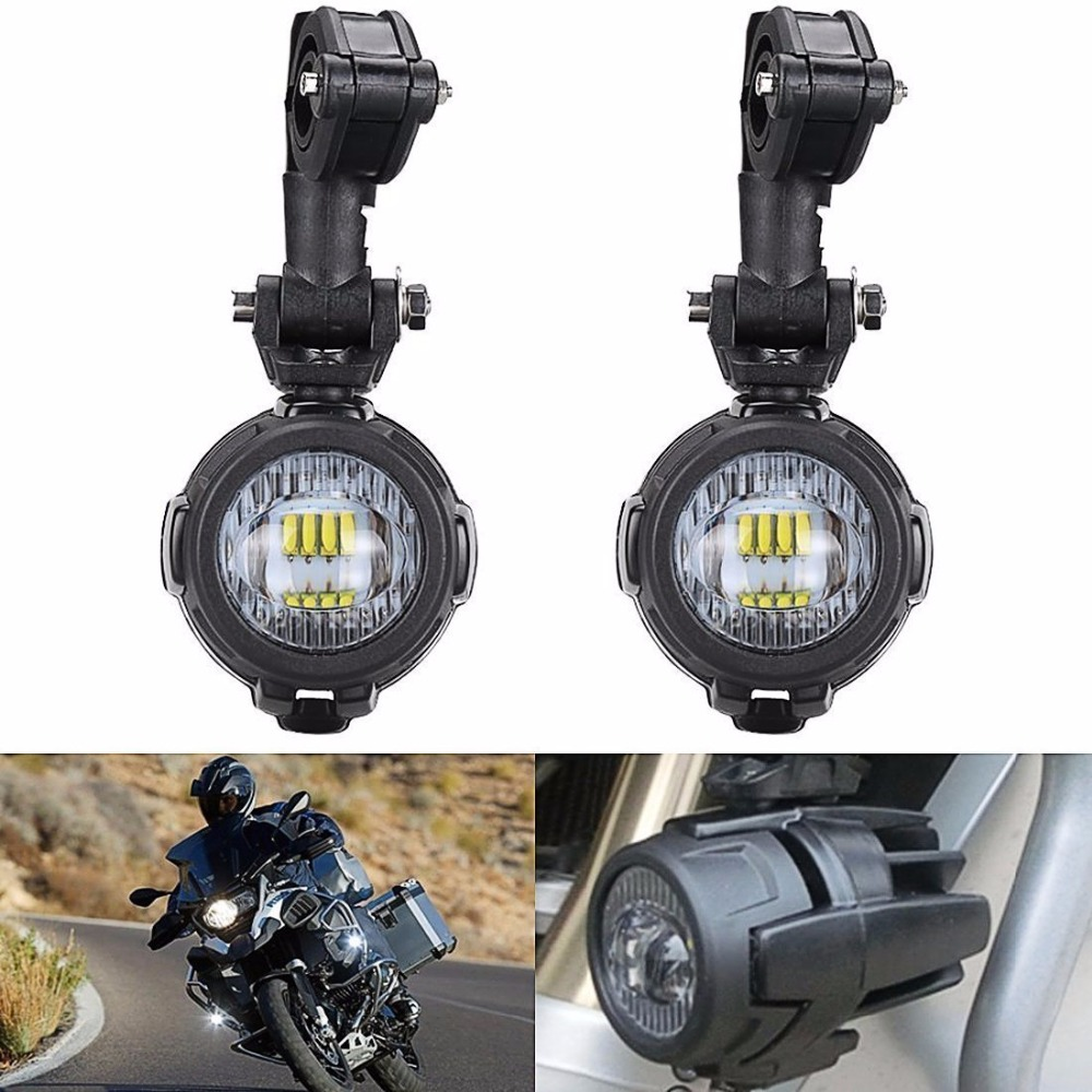 Motorcycle LED Fog Light Safety Driving Lamp with Bike Auxiliary Fog Accessories Guards & Wiring Harness for BMW R1200GS