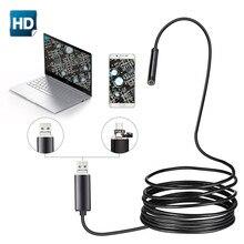 7 мм 2 в 1 USB эндоскоп 480P HD Snake Tube и Android Borescope USB Endoscopio инспекционная микро камера для ПК смартфона