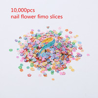 10 000 Pcs Bag Flower Fimos Slices 3D Nail Art Decorations Polymer DIY Sticker Nail Art