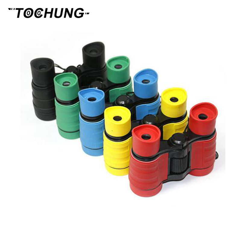 TOCHUNG newest 4x30 plastic children binoculars pocket size telescope magnification for kids outdoor games boys toys gift