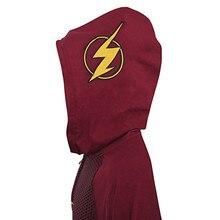 3D imprimir DC Flash Sudadera con capucha traje Cosplay hombres nueva chaqueta de abrigo