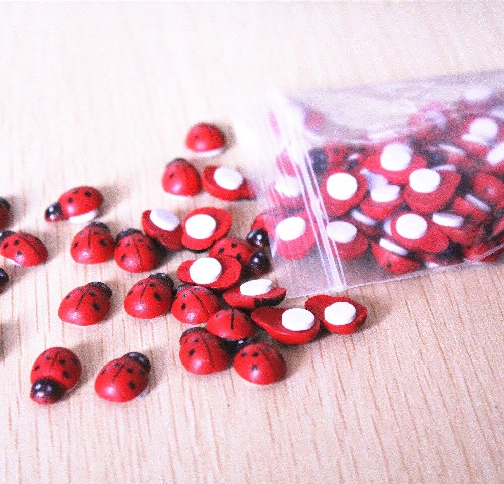 7 26 Tarjetas De Invitación De Fiesta De Cumpleaños Para Niños Ladybug Decoran 50 Piezas Mini Autoadhesivo Rojo Cuentas De Mariquita Artesanal