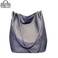 2016 New Bucket Designer Ladies Cross Body Bags Designer Women Leather Handbags Black Bucket Shoulder Bags