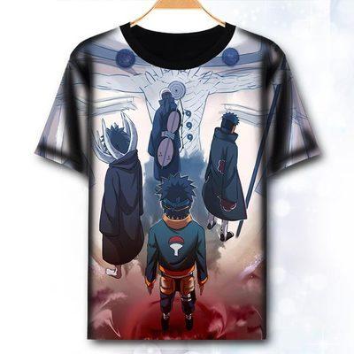 T-Shirt Naruto vêtements de mode Anime à manches courtes T-Shirt Itachi Uchiha Sasuke Cosplay T-Shirt haut