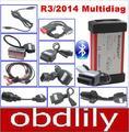 2016 Mais Novo R3/2014 Multidiag Pro + Professional Diagnóstico Mesma Função de Suporte a Bluetooth CDP + 8 pcs Carro cabos + 4 GB Cartão TF