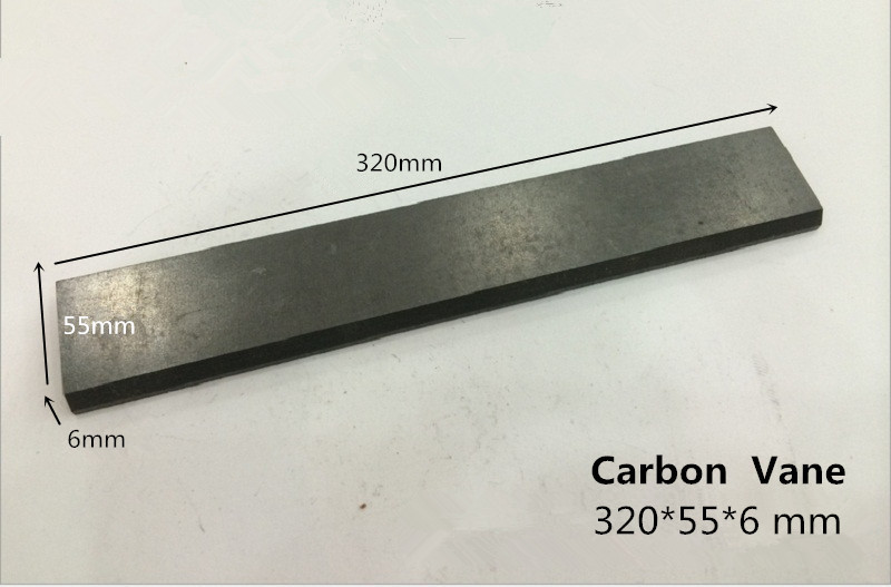 320*55*6mm graphite vane  for VFT 250 pump       /carbon graphite plate for Breathing air supply    /carbon graphite vane купить