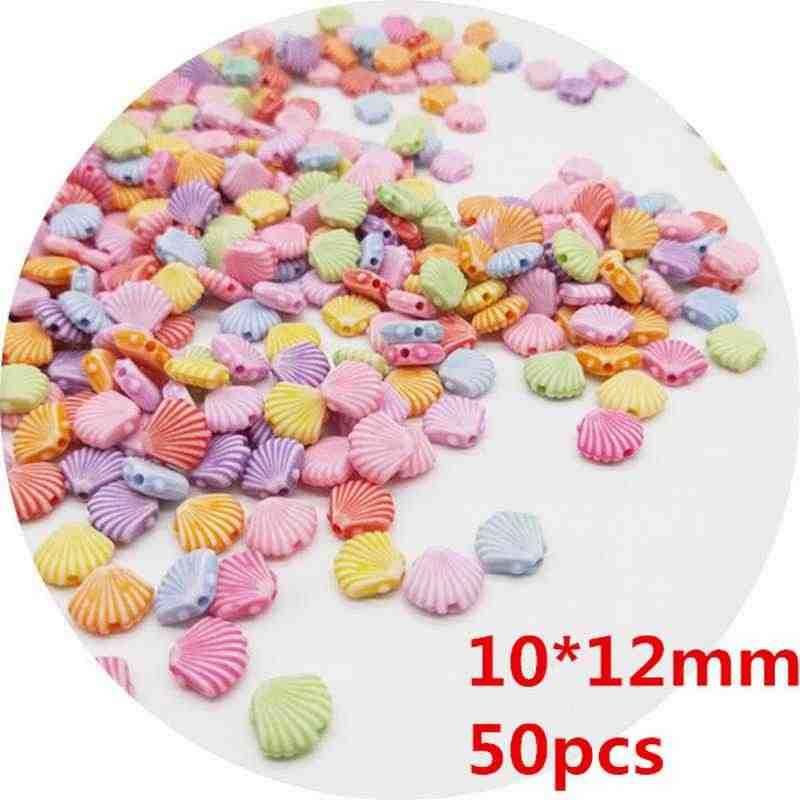 DIY 50/100pcs Cheap Fashion Acrylic Beads Flower Animal Bead for Making Bracelet Necklace Handmade Jewelry Accessories Wholesale