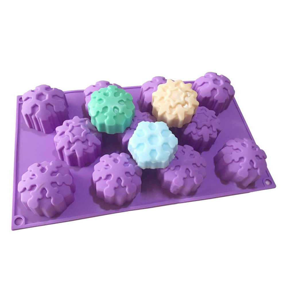 Snowflake Flower Silicone Cake Molds Pastry Baking Tools Soap Candle Mold DIY Fondant Candy Sugar Chocolate Jelly Mousse Mould