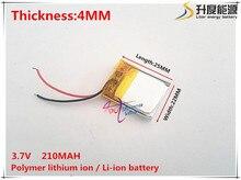 3.7V,210mAH,[422225] PLIB; polymer lithium ion / Li-ion battery for GPS,mp3,mp4,mp5,dvd,bluetooth,model toy