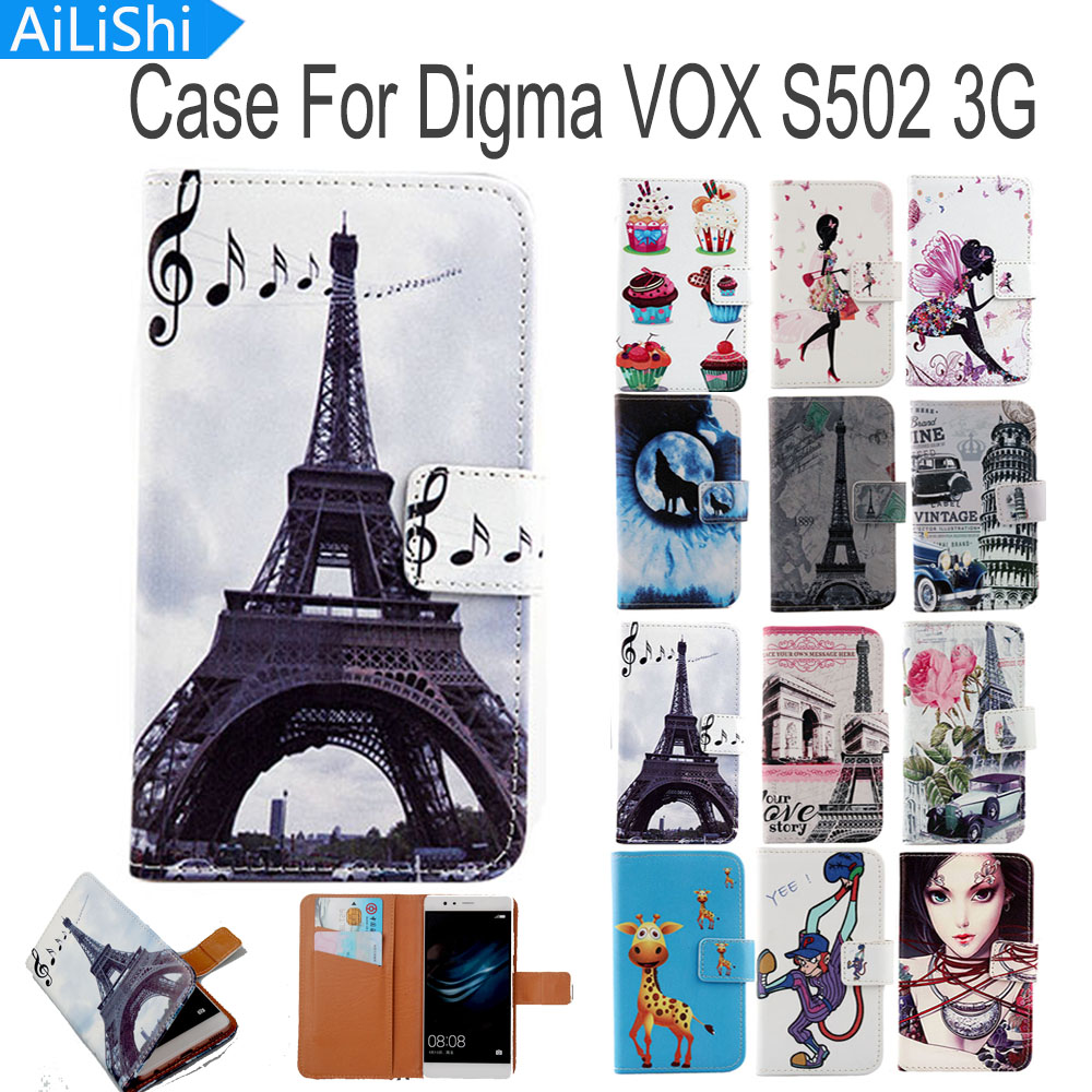 Flip Cases Cellphones & Telecommunications Sensible Ailishi Luxury Flip Pu Leather Case For Digma Vox S502 3g Case Fashion Cartoon Painted Protective Cover Skin With Card Slot For Improving Blood Circulation