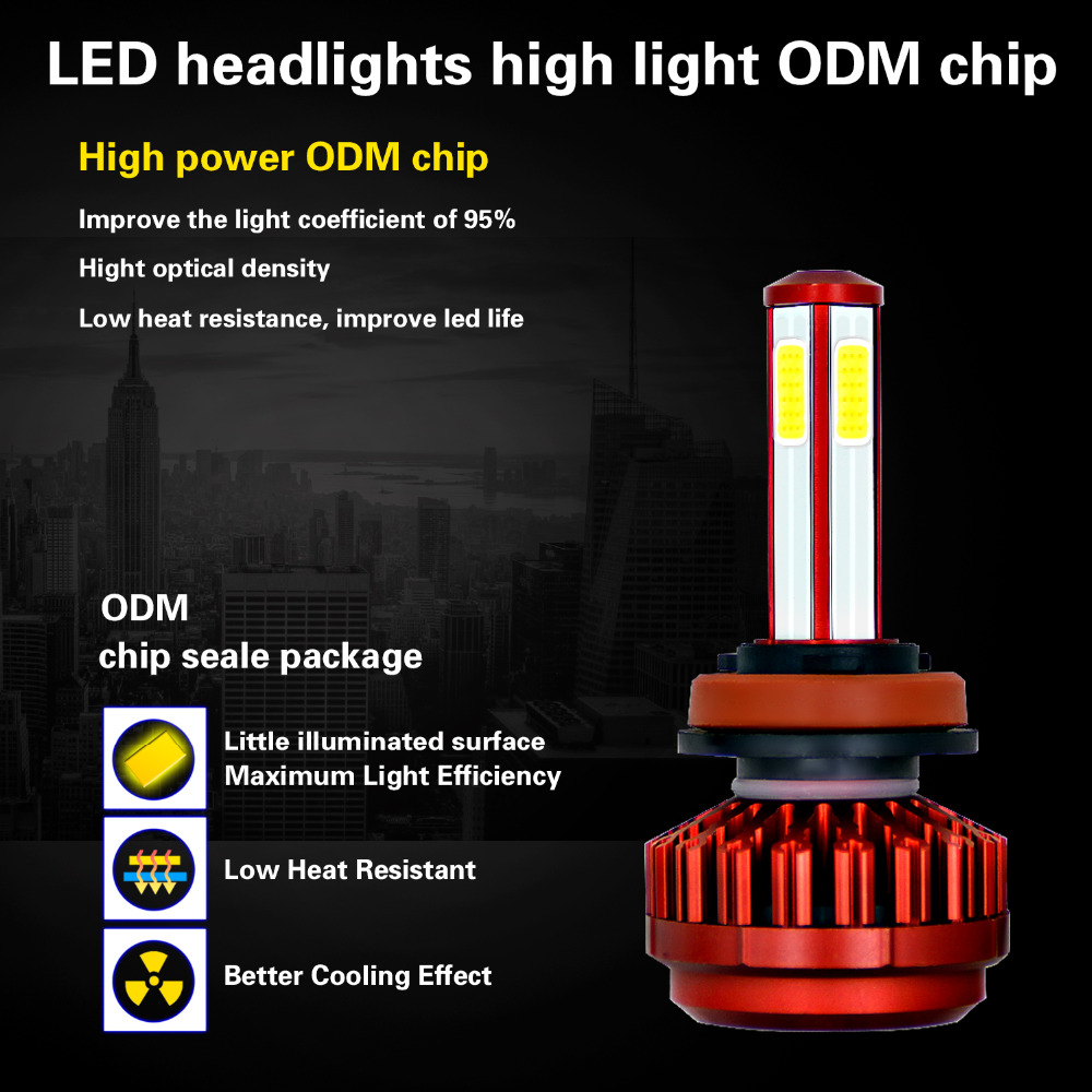 LEADTOPS Mini H4 H7 LED Car Headlight 9005 9006 HB3 HB4 H8 H9 Headlamps Automobile Bulbs Waterproof IP68 12V 2pcs DE in Car Headlight Bulbs LED from Automobiles Motorcycles