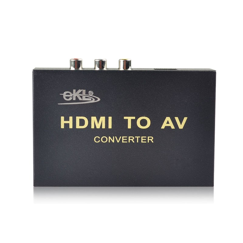 HDMI to AV + Audio Converter Support SPDIF Coaxial Audio NTSC PAL Composite Video HDMI TO 3RCA Adapter Free Shipping By UPS DHL