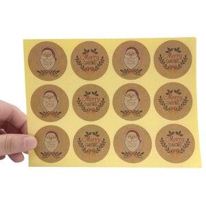 Image 2 - 1200 pcs/lot Kawaii père noël rond bricolage multifonction joint autocollant joyeux noël cadeau autocollant étiquette