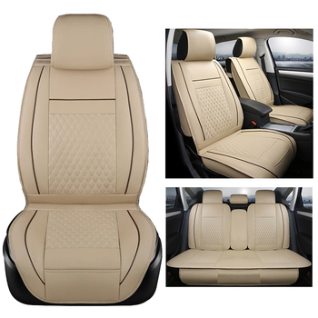 Universal car seat cover embroidery logo car seat cover for jeep wrangler patriot compass cherokee seat cover with neck