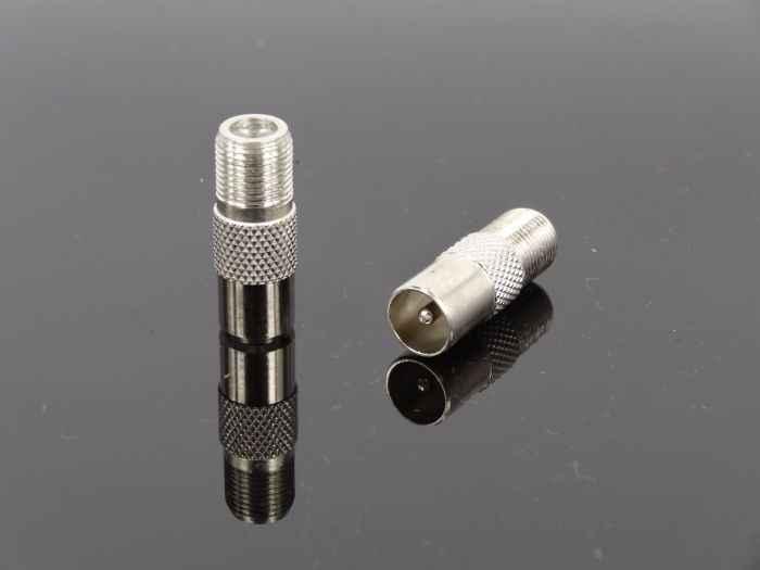 1 Pcs F Perempuan Jack Ke 9.5 laki-laki Kabel Steker TV Set-top Box Sistem Pemantauan Adapter Inggris Konektor