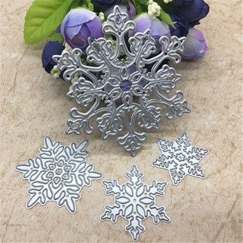 4pcs/set Snowflake Cutting Dies Christmas Metal Cutting Dies Stencils Die Cut for DIY Scrapbooking Album Paper Card Embossing 1
