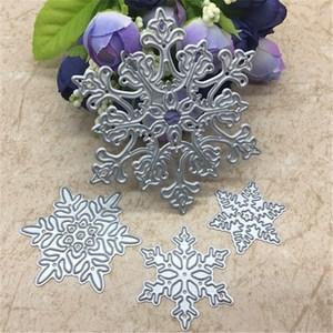 Image 2 - 4pcs/set Snowflake Cutting Dies Christmas Metal Cutting Dies Stencils Die Cut for DIY Scrapbooking Album Paper Card Embossing