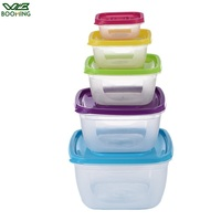 WBBOOMING 5Pcs/Set Square Kitchen Fridge Food Container Lunch Box Multi Capacity Save Space Fresh Vegetable Fruit Storage Boxes 1