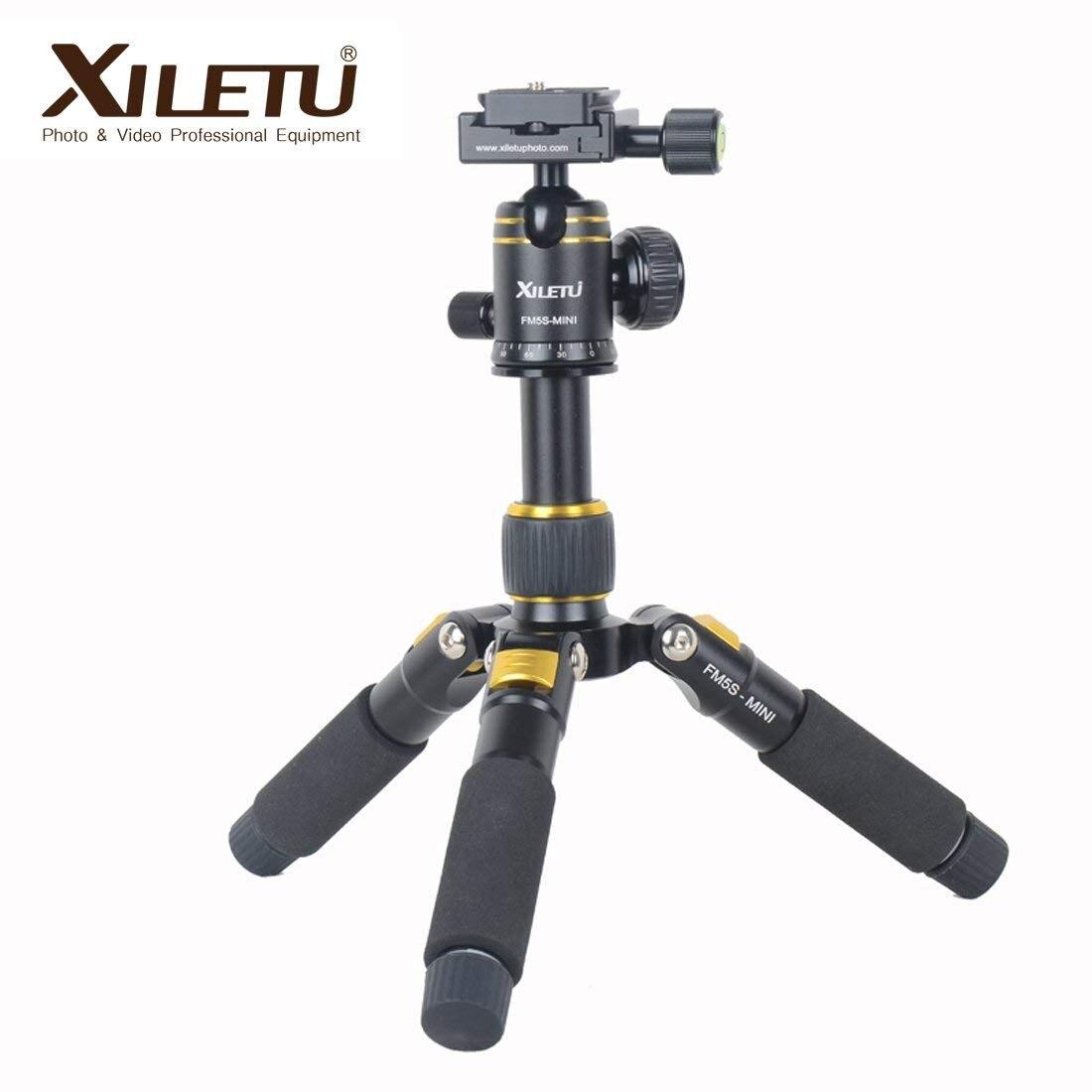 XILETU FM5S-Mini Tabletop Tripod And Ball Head Kit For DSLR Mirrorless Camera Smart Phone Lightweight Alluminum Tripods Tabletop