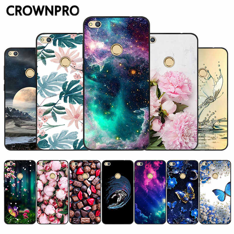 P8 Lite 2017 Back Cover For Huawei Honor 8 Lite Case Black TPU Silicone Soft For Huawei P9 Lite 2017 Marble Case Phone Capa 5.2""