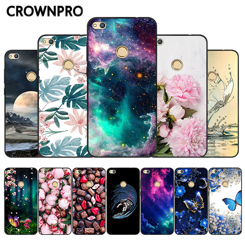 P8 Lite 2017 Back Cover For Huawei Honor 8 Lite Case Black TPU Silicone Soft For Huawei P9 Lite 2017 Marble Case Phone Capa 5.2
