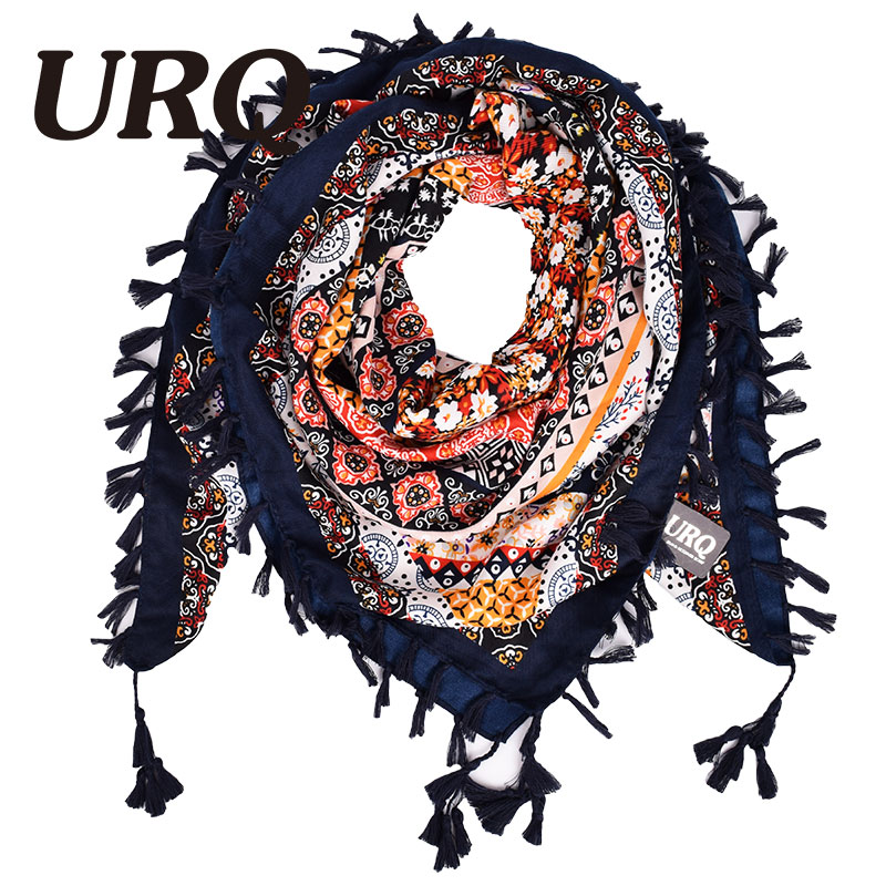 New Fashion Women Square   Scarf   Printed Ladies Brand   Wraps   Hot-Sale Winter   Scarves   cotton from India Floral Hijab V11A11668