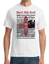 2018 Venta caliente 100% algodón Roswell periódico-UFO alien-conspiración-Camiseta  para hombre Camiseta ec32f1db05616