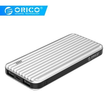 ORICO 10000 mAh w stylu walizki banku mocy z wskaźnik LED 5V2A podwójne wyjście zewnętrzna bateria pobierać opłaty za telefon komórkowy tanie i dobre opinie Awaryjne przenośne 5 V 2A 9001-10000 mAh Podwójny USB Bateria litowo-polimerowa ZŁĄCZE micro USB 300g Inne ORICO 10000mAh Power Bank with LED Indicator