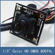 Hot Sell 1/3″ Color HD CMOS 800TVL Board CCTV Camera Module , 3.6mm Lens + PAL or NTSC Optional + Free Shipping