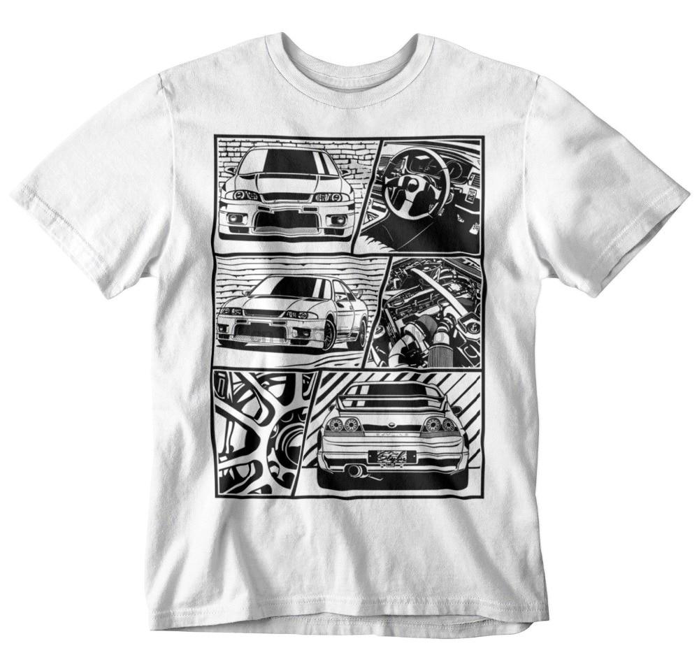 2019 Fashion Summer T Shirt Gtr R33 Fragment T Shirt White S 3Xl Jdm Boost Turbo Japanese Car Fans 35 34 32 R35 Tee Shirt