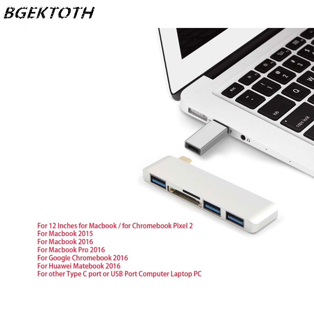 aluminum-usb-hub-30-sd-tf-card-reader-with-type-fontbc-b-font-to-usb-converter-for-fontbchromebook-b