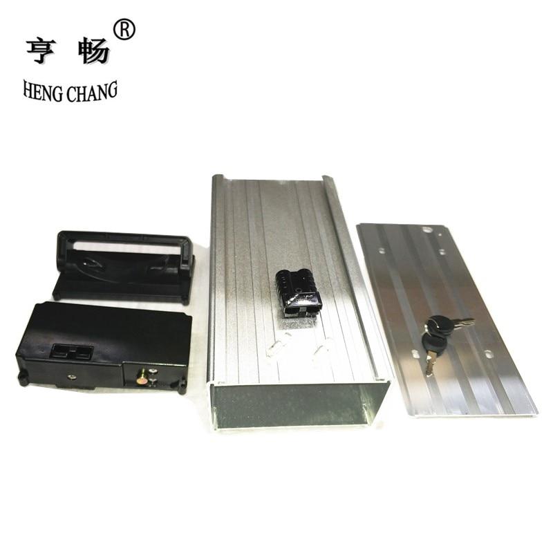 rear rack style battery aluminum case electric bike lithium battery storage box inside diameter 145 x