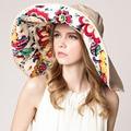 Цветочные вс Hat хлопок складной большой головной вс шляпы для женщин цикл солнце - тень взрослых анти-уф летом , весной осень