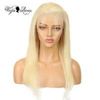 Queen Virgin Remy 613 парик с фронтальным шнурком 150% удилище бразильские прямые человеческие волосы медовый блонд 613 цвет 13*6 кружево спереди парики