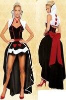 Бесплатная Доставка Новый покер Queen deluxe Fantasy Костюм взрослых Обувь для девочек пикантные аниме Принцесса Для женщин Вечернее изящное платье