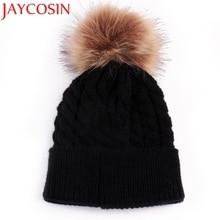 Skullies Beanies Newborn Cute Winter Kids Baby Hats Knitted Pom Pom Hat Wool Hemming Hat  Drop Shipping High Quality S30