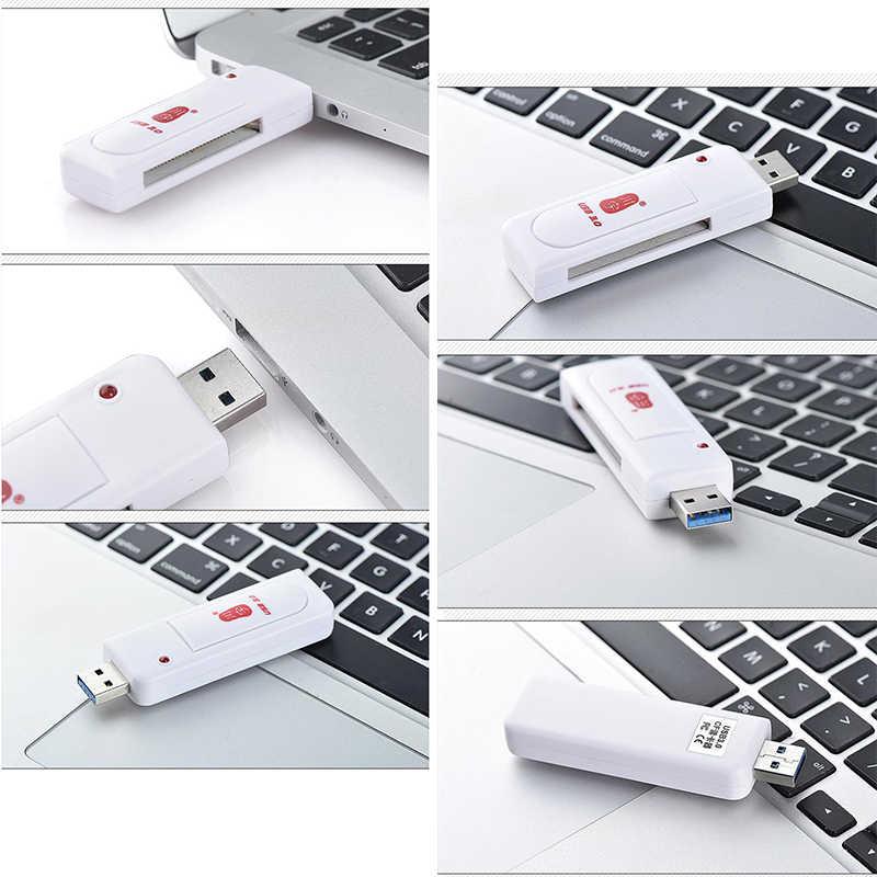Kawau CF kart okuyucu 3.0 USB yüksek hızlı adaptör ile CF kart Yuvası C301 Max Destek 256GB Bellek kart okuyucu Bilgisayar için
