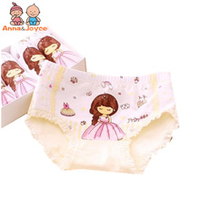 4pcs/lot fashion kids panties girls' briefs female child underwear lovely cartoon panties children clothing