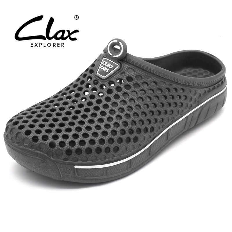 7672697fa Clax туфли-сабо для сада для мужчин быстросохнущие летние пляжные тапки без  каблука дышащие уличные