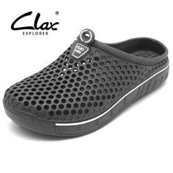 كلاكس حديقة قبقاب للرجال التجفيف السريع الصيف حذاء الشاطئ شقة تنفس في الهواء الطلق الصنادل الذكور البستنة الأحذية