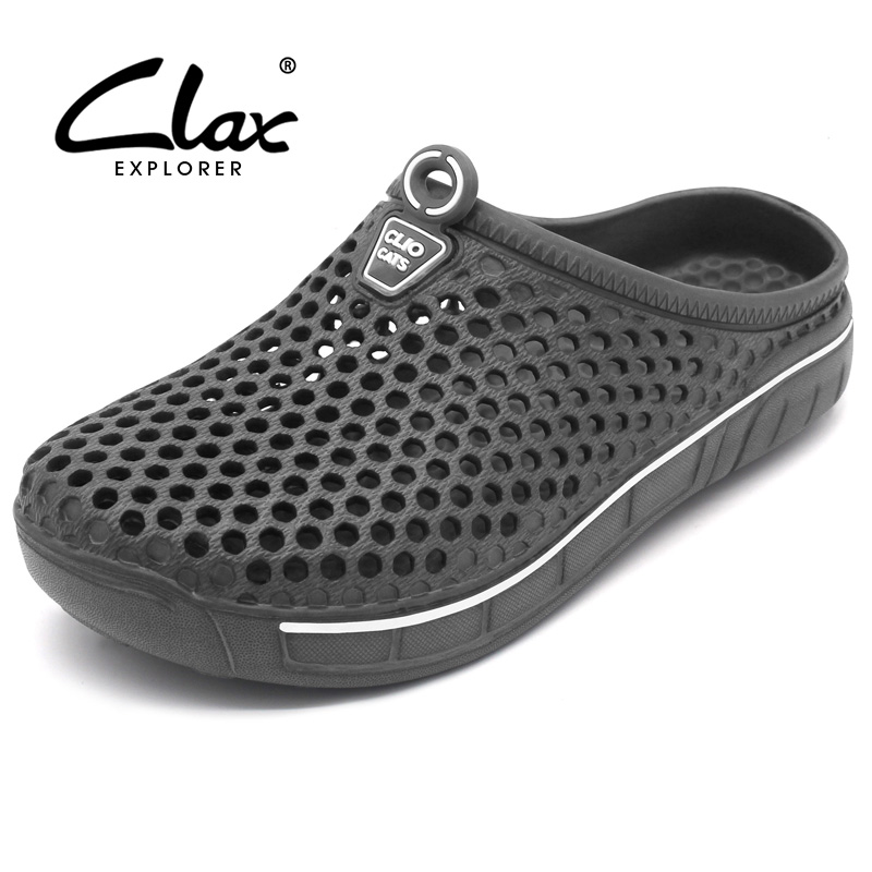 Clax Backyard Clog Footwear For Males Fast Drying Summer time Seaside Slipper Flat Breathable Outside Sandals Male Gardening Shoe
