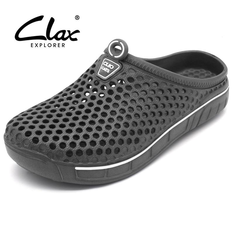 Clax Jardin Obstruer Chaussures Pour Hommes Séchage rapide D'été Plage Pantoufle Plat Respirant Sandales En Plein Air Masculins Jardinage chaussures
