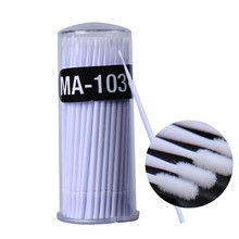 100pcs Micro Applicator Brushes Disposable Micro Brushes Swab Applicators for Makeup ( white )