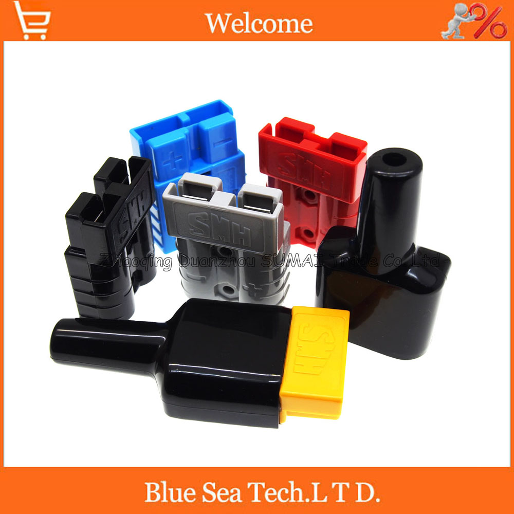 SMH Anderson 2 Pin 50A 600V Power Battery plug connector, waterproof Plug sheath,dust cable sheath/cover,Colors free shipping 1 sets new smh 2p 175a 600v power connector battery plug male