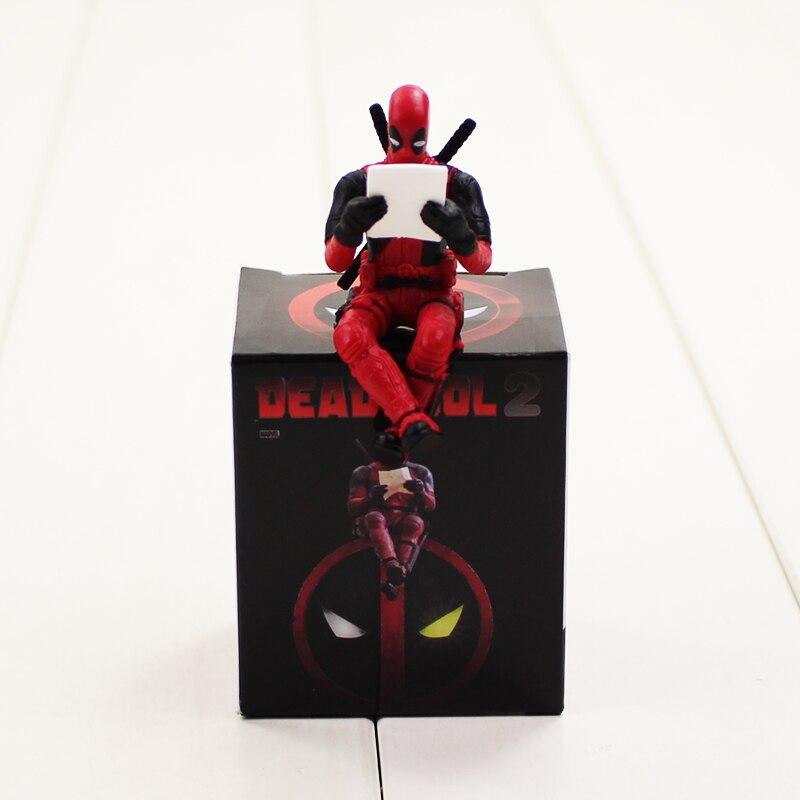 Deadpool 2 Figure Toy Reading Dead Pool Model Doll Justice 6cm