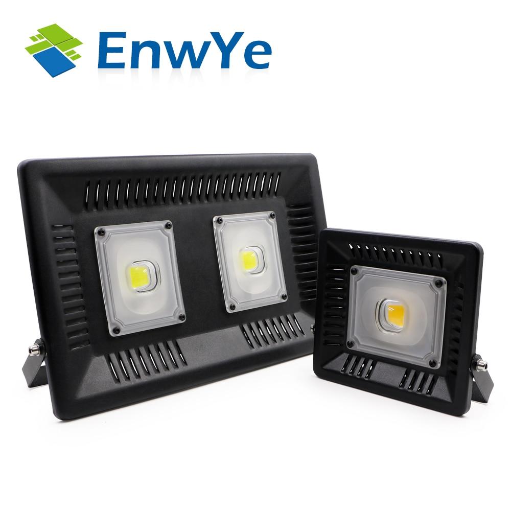 EnwYe 50 Вт 100 Вт идеальное питание светодио дный прожектор светодио дный уличный фонарь 220 В Водонепроницаемый ландшафтного освещения IP65 свето...