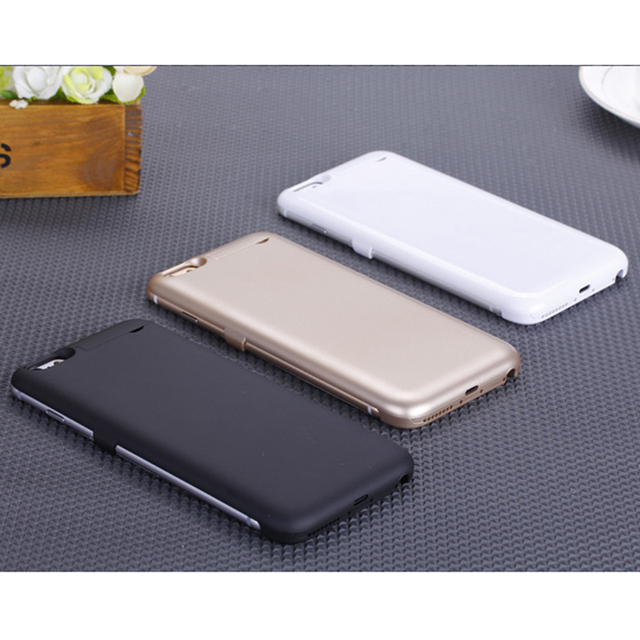 2016 Hot 5500mAh/8000mAh External Battery Backup Charge Bank Power Back Cover For iPhone 6/6plus 4 Colors