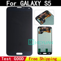100% original de prueba bueno para samsung galaxy s5 g900f g900m H FD Una pantalla LCD de pantalla táctil Digitalizador con adhesivo freeshipping