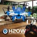 JJRC H20W Mini Wifi Drones FPV 6 Ejes Rc Quadcopters Dron con Cámara de 2MP HD Helicóptero Helicópteros de Control Remoto Juguetes Nano
